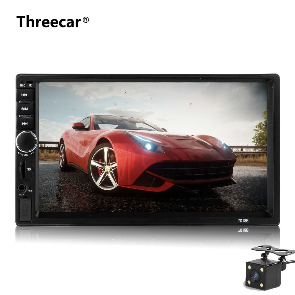 7018B Car audio 7 Inch 2 DIN autoradio Stereo Touch Screen auto Radio Video car MP5 Player Support Bluetooth TF USB FM camera
