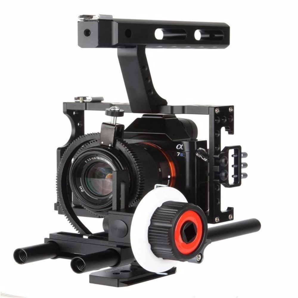Damping Design High Strength Aluminum Alloy Camera Follow Focus With Gear Ring Belt Suitable For Sony A7 ILCD Camera