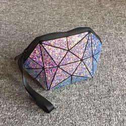 Geometris Semi Circle Kosmetik Tas untuk Wanita Tas Perlengkapan Mandi Tas Fashional Tas Makeup Merek