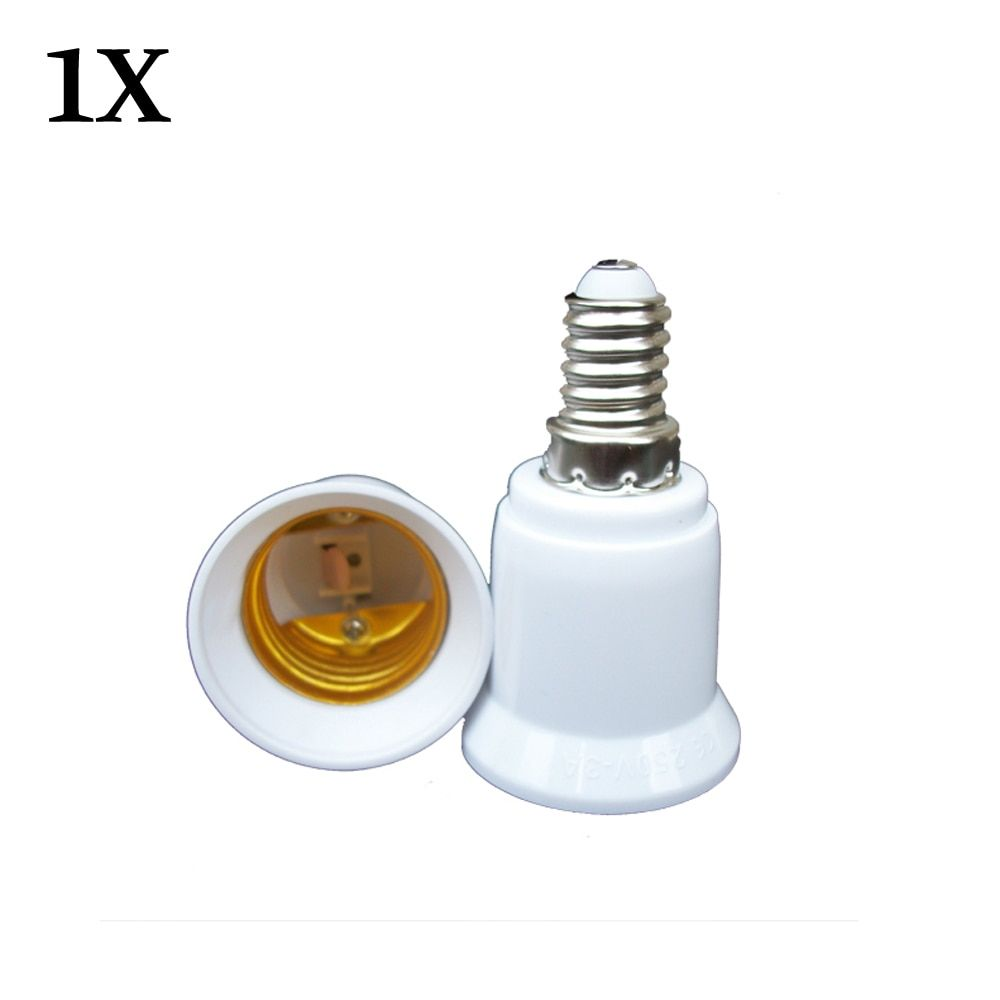 1x Converter E14 TO E27 Adapter Conversion Socket High Quality Material Fireproof Socket Adapter Lamp Holder