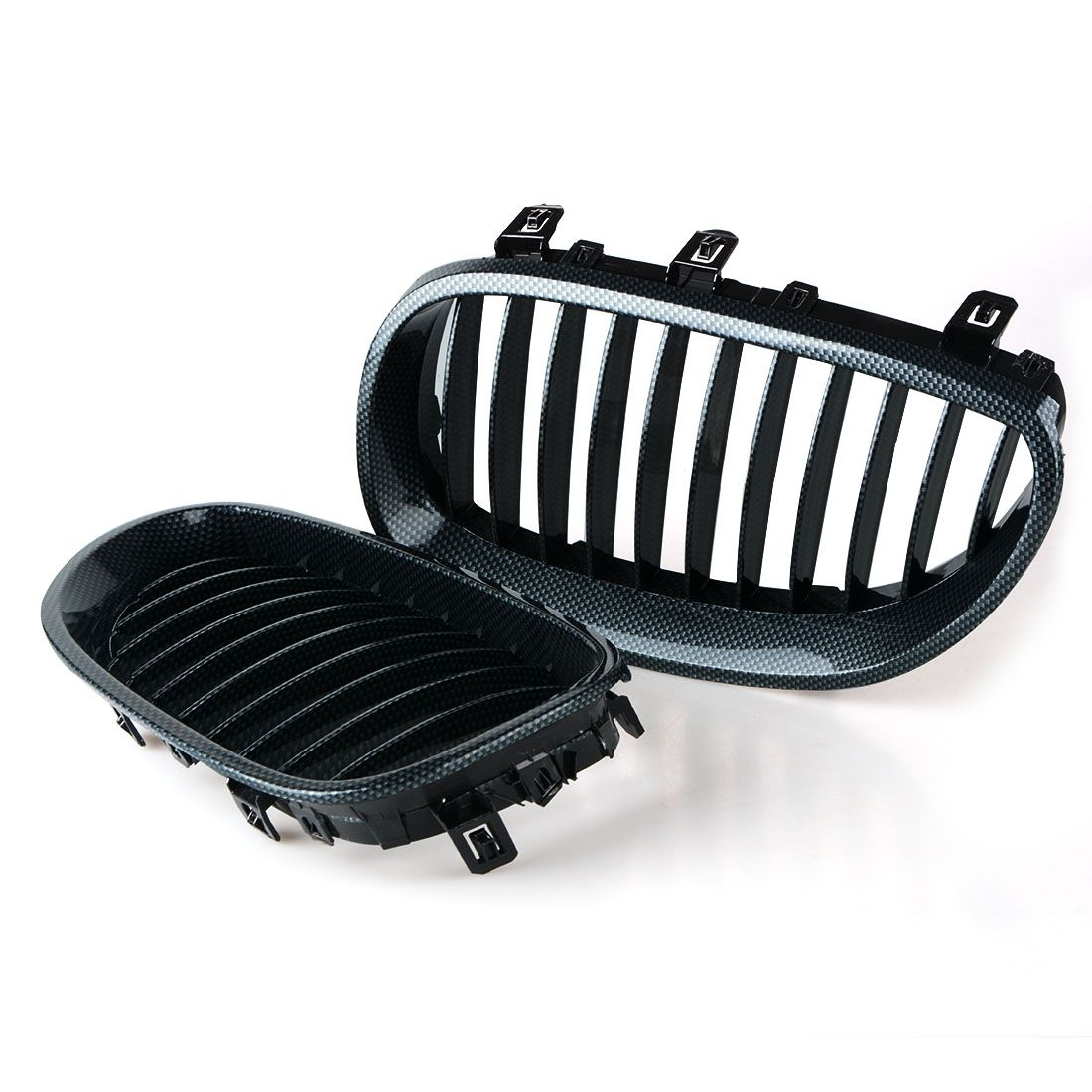 Auto Replacement Parts Racing Grills Car Front Kidney Grille Carbon Fiber Grilles For BMW 5 Series E60 2003-2009