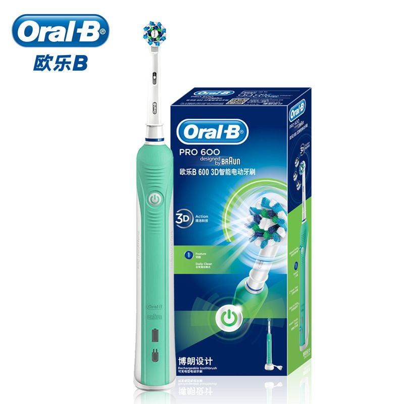 Oral B Electric Toothbrush Oral Pro 600 Electric Tooth Brush Cross Action Rechargeable Toothbrush Personal Care 3D Cleaning D16