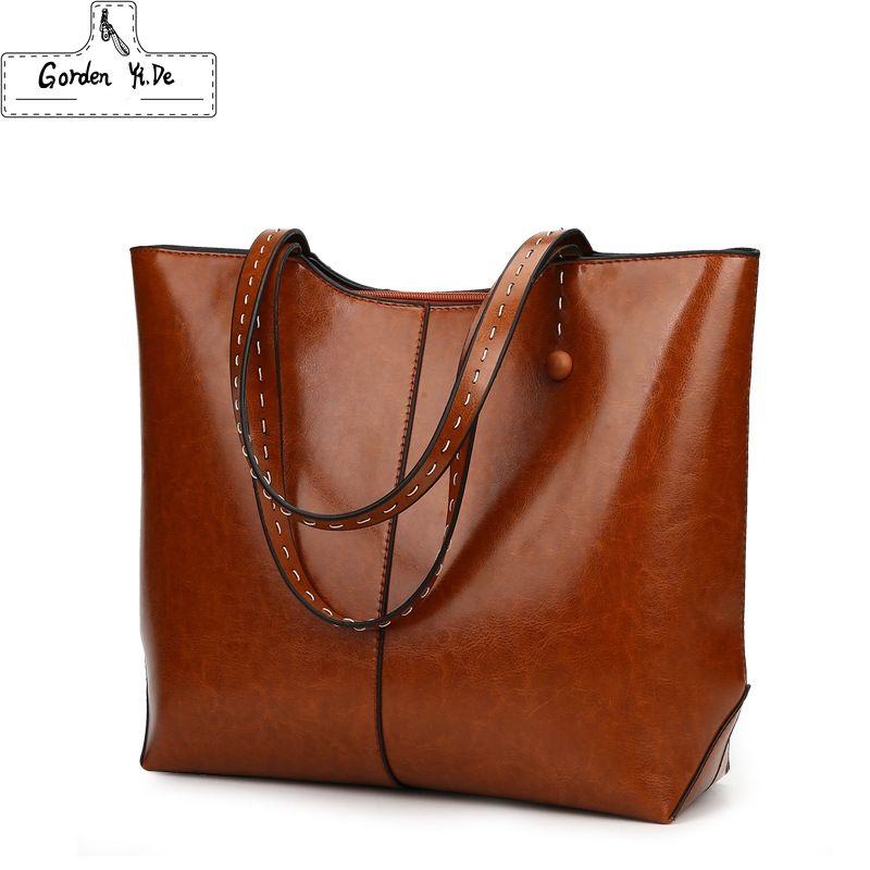 Large Capacity Casual Tote Bags 2018 Leather Women Handbags High Quality Multi-functional Lady Retro Bag Mochila Bolsas