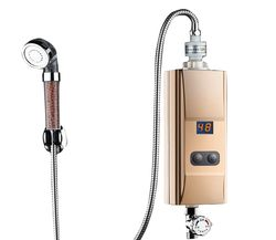 Bas débit d'eau entrée d'eau chaude robinet instantané sans réservoir Cuisine chauffe-eau Électrique robinet de chauffage douche Chauffe-bain