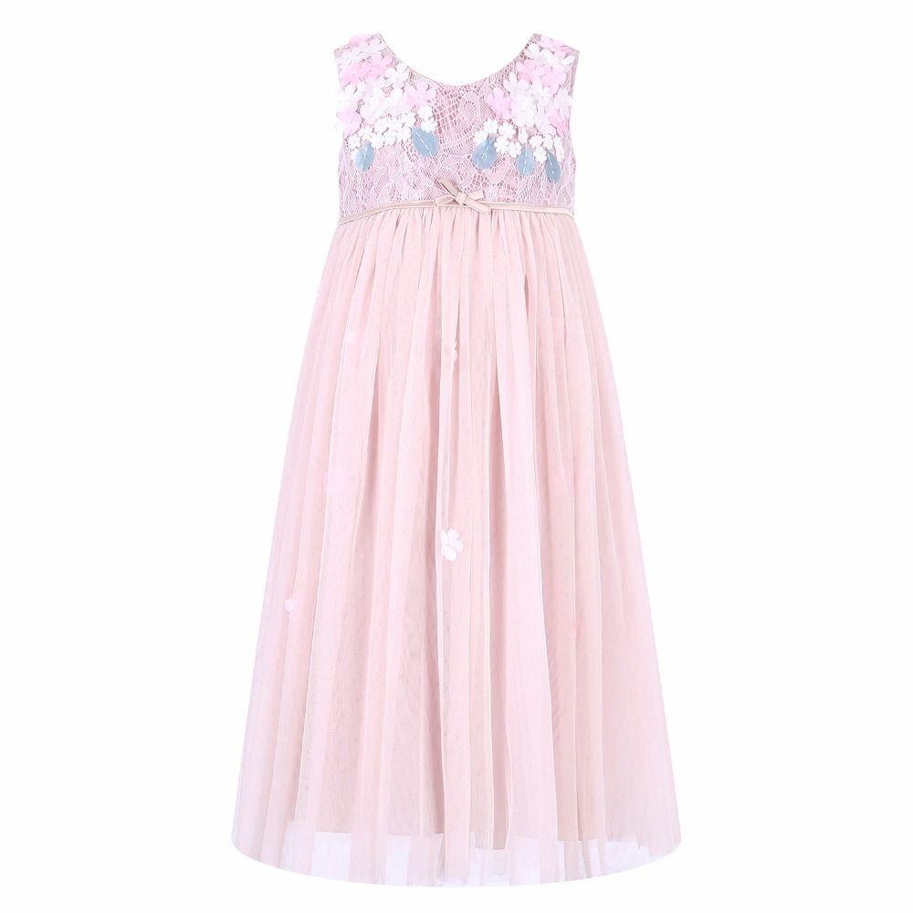 Girls Wedding Dresses 2018 Brand Summer Kids Dresses for Girls Clothing Lace Flower Children Party Dress Princess Vestidos
