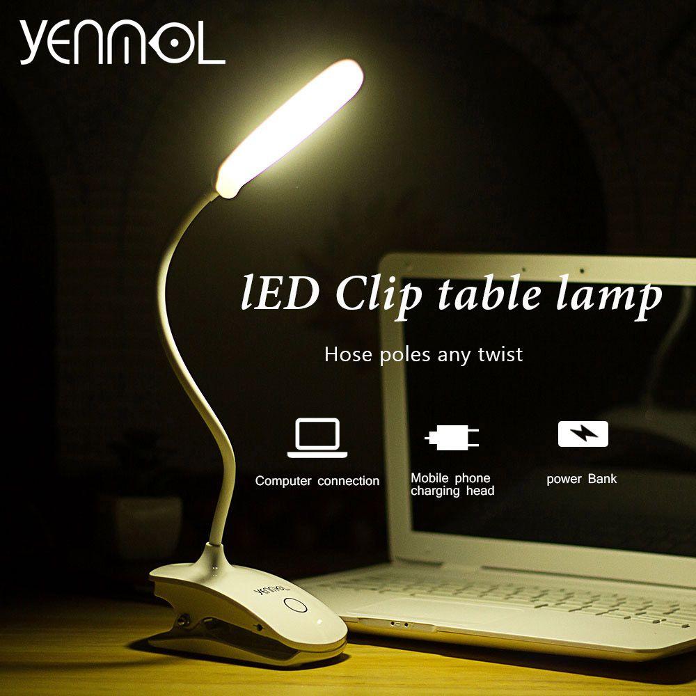 Yenmol Led Interrupteur Tactile Lampe de Bureau Pour La Table de Lecture USB Lit Lampes pour Salon Chambre Contemporain Ordinateurs de Bureau Lampe Lumière