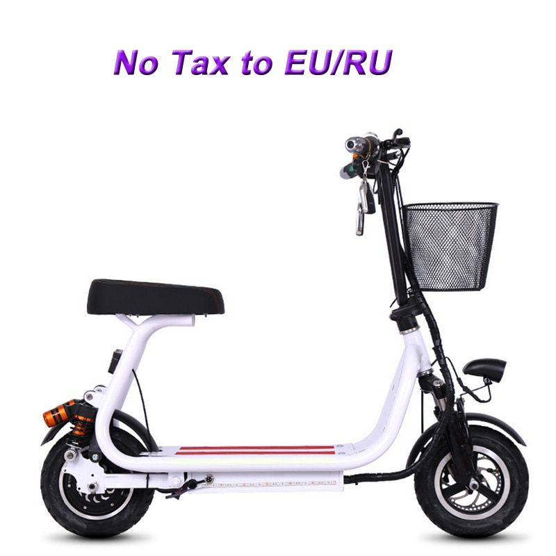 12 inch small electric bike Double Hydraulic shock absorption bicycle mini two round folding bike adult pedal Electric scooter