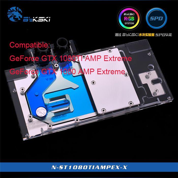 G Bykski N-ST1080TIAMPEX-X for ZOTAC GeForce GTX 1080TI 1080 AMP Extreme Cooling Block RGB / RBW / ARUA gpu cooler