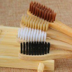 1 Pcs Durable Personal Health Environmental Brosse À Dents Bambou Oral Care Dents Éco Doux Moyen Brosses Nouveau