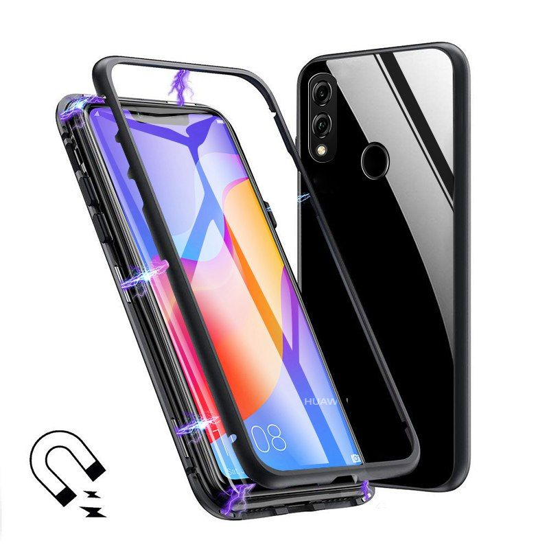 For Huawei Mate 20 Pro 20X P20 Pro P10 Plus Magnetic Metal Case Clear Glass Case For Huawei Honor 10 V10 8X Max Y9 2019 Nova 3i
