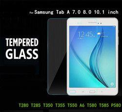 Tab A Protector de cristal para Samsung Galaxy Tab A 7,0 8,0 9,7 A6 10,1 T280 T285 T350 T355 T550 T580 p580 Tablet Protector de pantalla