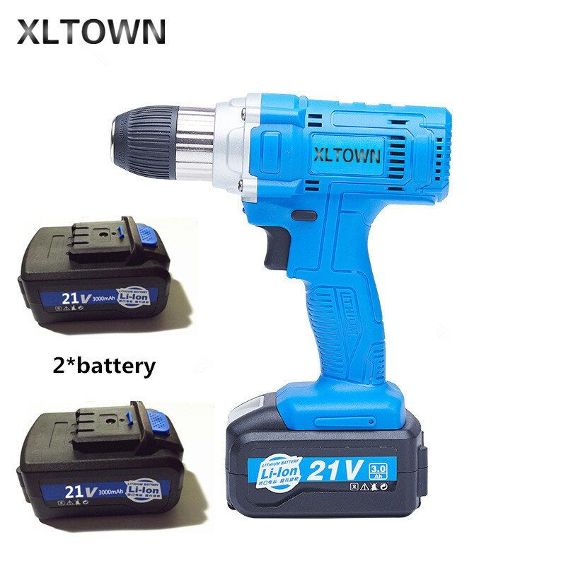 Xltown 21v high-power cordless drill with high-capacity rechargeable lithium battery Electric screwdriver power tool