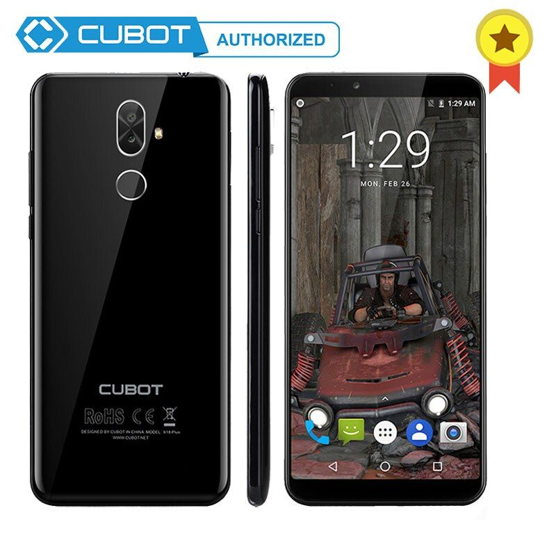 Cubot X18 Plus Android 8.0 MT6750T Octa-Core 18:9 5.99 inch 2160*1080 FHD+ Screen 4GB RAM 64GB ROM 16.0MP Telephone 4000mAh 4G