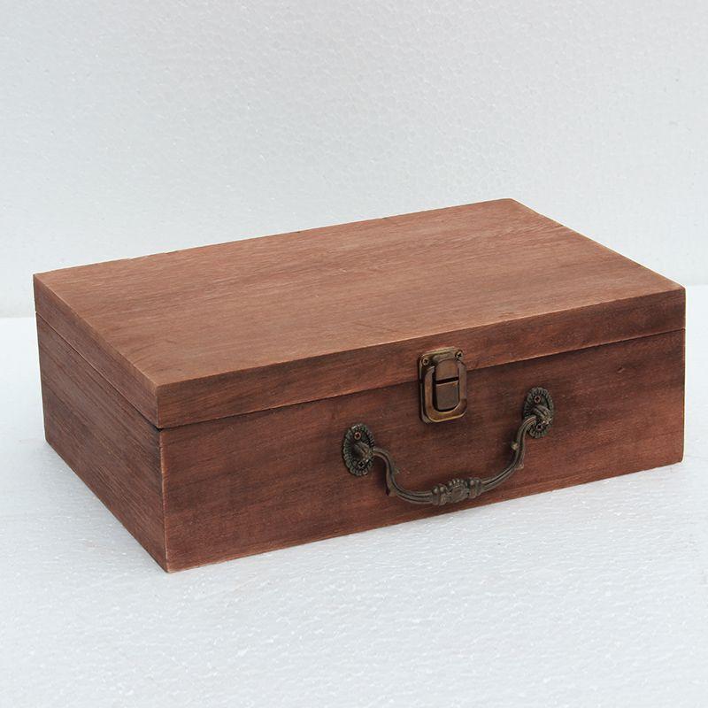 Boîtes de bureau en bois boîtes grand magasin contenu boîte bois certificat reconstituant des manières antiques reçoivent boîte de rangement de bijoux avec