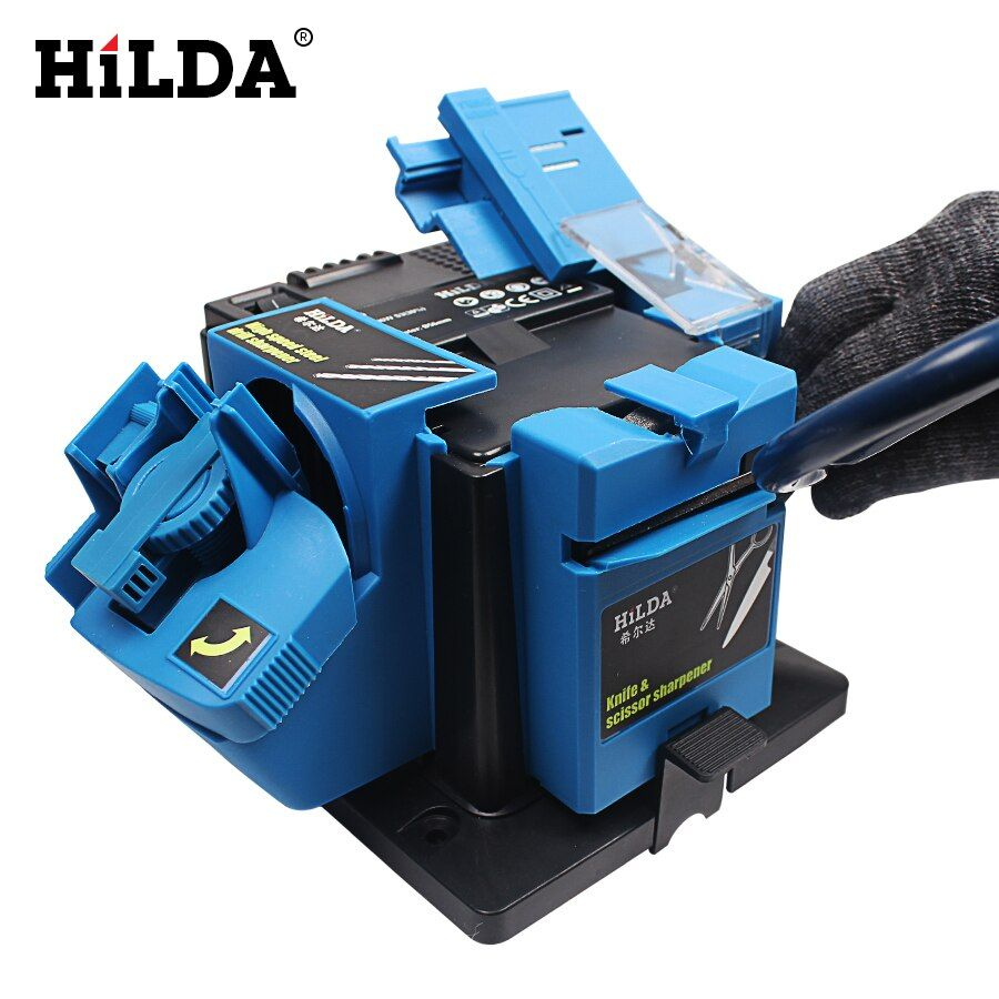 HILDA Multifunction Electric Knife Sharpener Drill Sharpening Machine Knife & Scissor Sharpener Power Household Grinding Tools