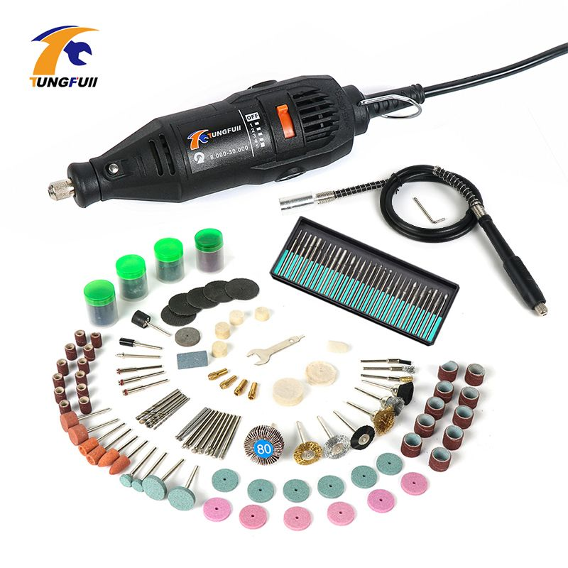 Tungfull Mini Drill 130W Drilling Machine 30000rpm Variable Speed Rotary Tools Electric Engraver For Dremel 4000 3000