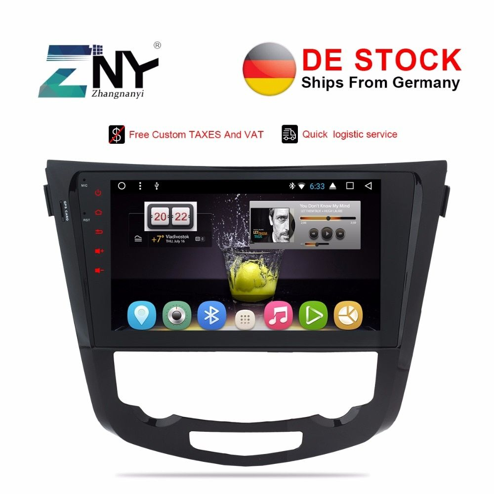 VAT Free DE Car Stereo Radio 8 Core Android 7.1 For Qashqai X-Trail 2014-2017 10.1
