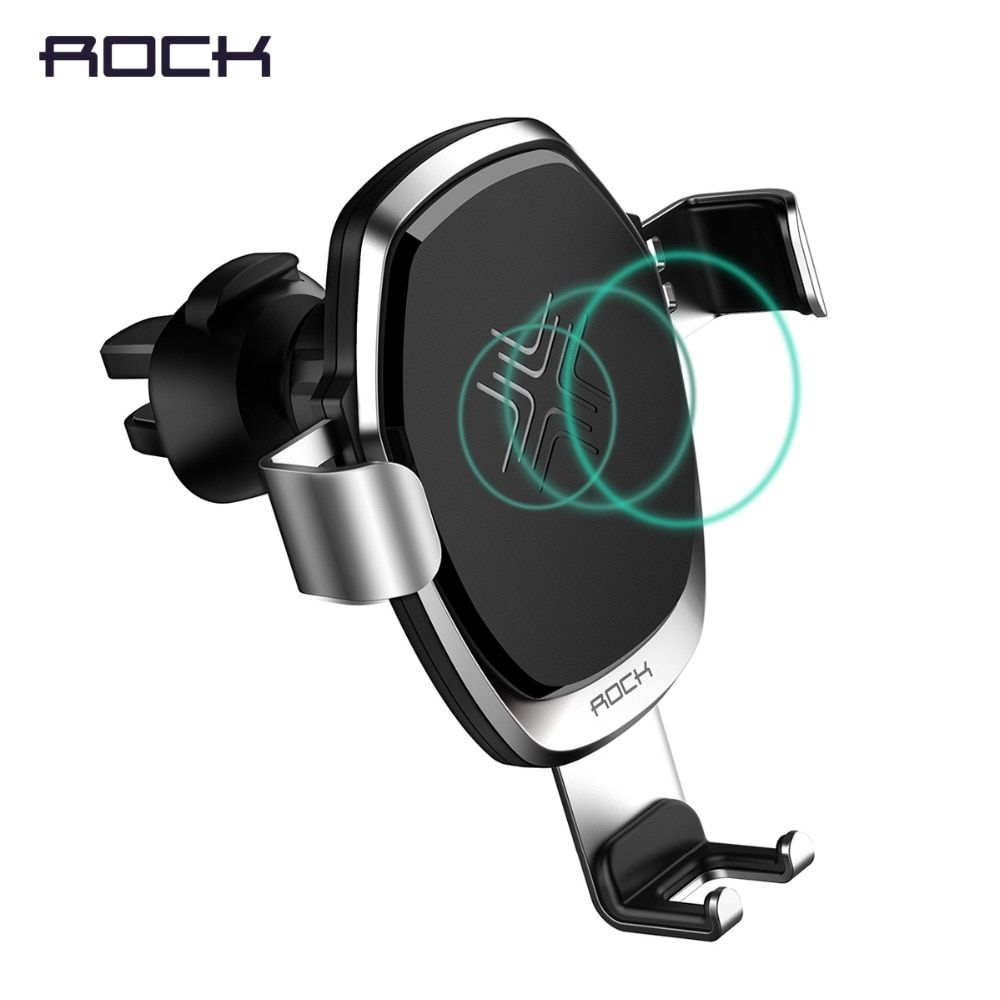 ROCK Wireless Charger Metal Gravity Car Holder for iPhone 8 X, 10W Alloy Qi Gravity Wireless Car Charger Holder for Samsung