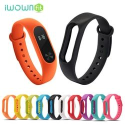 IWOWNFIT Smart Accessories for xiaomi mi band 2 Colorful silicone xiaomi miband 2 strap original