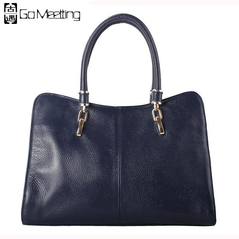 Go Meetting Cow Leather Ladies Handbags Women Genuine Leather bags Totes Crossbody Messenger Bags Hign Quality Shoulder Bags