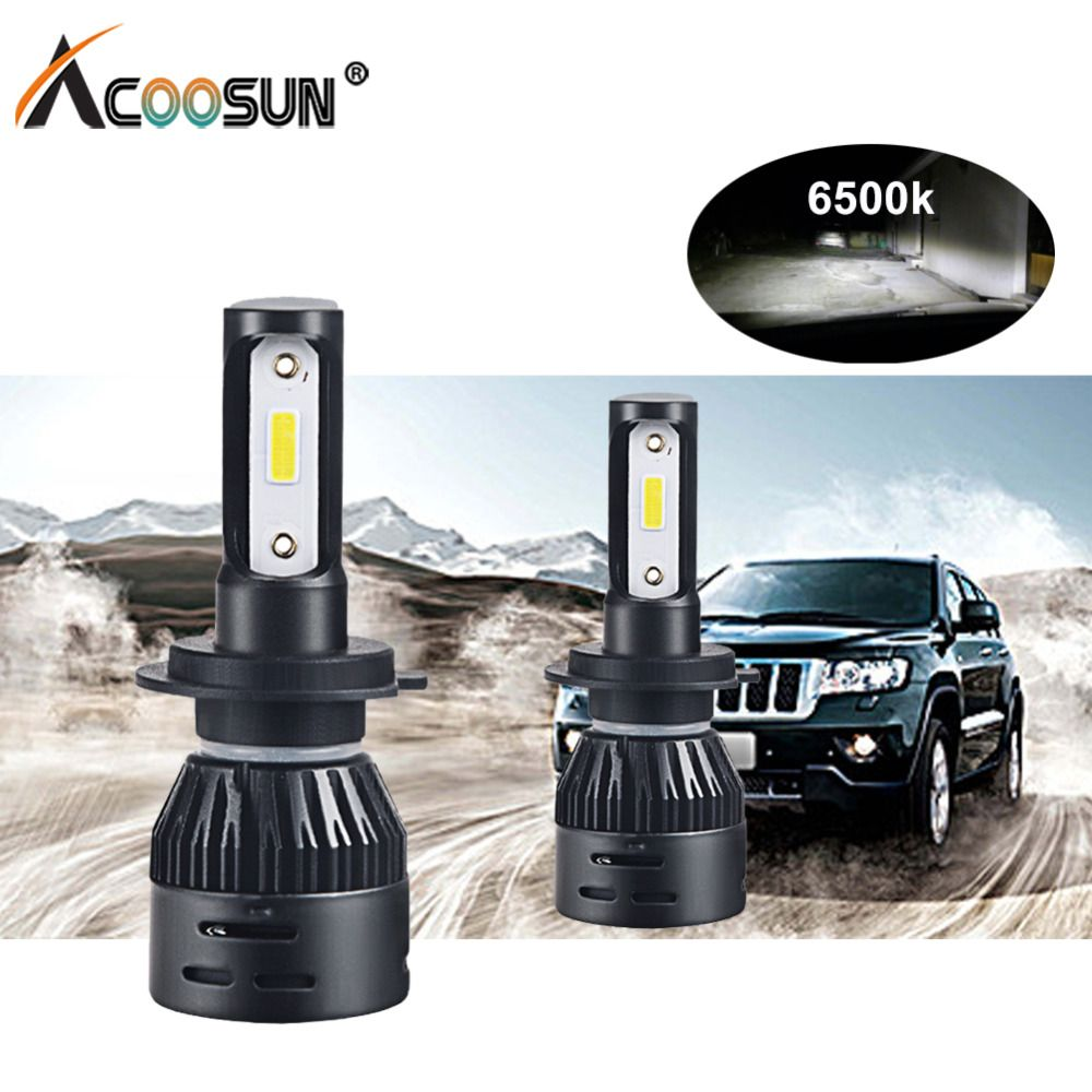 Mini H4 H7 Led Car Headlight Bulbs 12V 72W H1 H8 H9 H11 Led Auto Lampada 12000Lm 9005 HB3 9006 HB4 DOB Chips Led Fog light 6500K