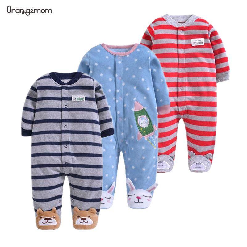 Orangemom officiel nouveau-né bébé garçons 2019 printemps bébé barboteuses filles barboteuse infantile polaire combinaison pour enfants nouveau-né bébé vêtements