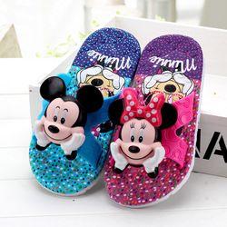 Niños Niñas zapatillas verano Flip Flop sandalias de los niños 3D Cartoon Mickey minne escuela niñas playa zapatillas niños zapatos sandalia