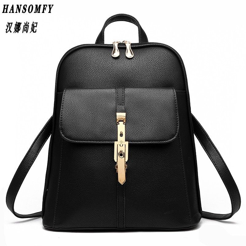 100% Genuine leather Women backpack 2018 New wave of female students backpack spring and summer fashion casual Korean bag