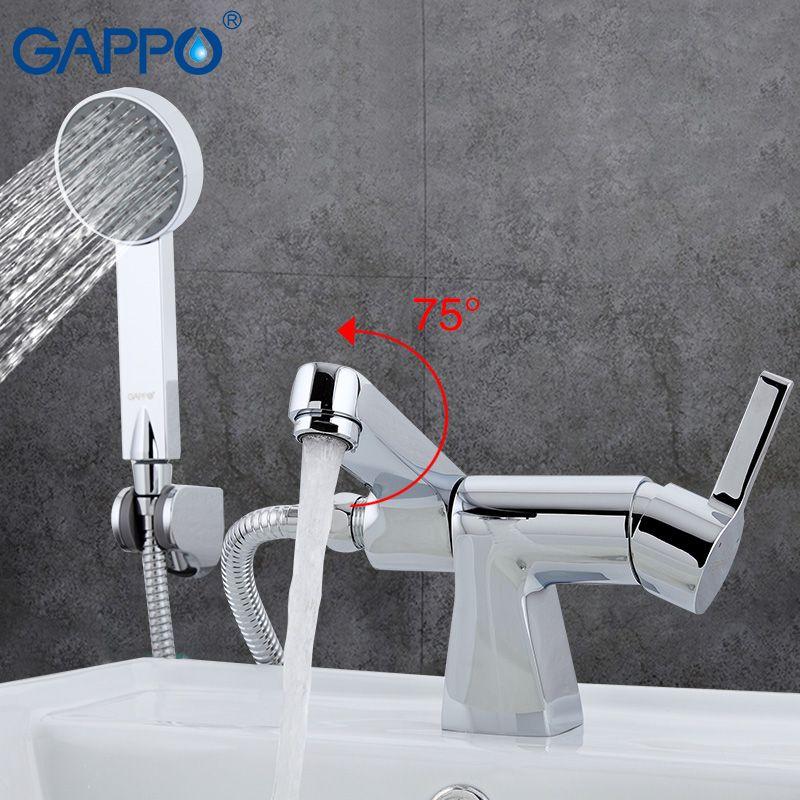 GAPPO robinet de baignoire douche salle de bains robinets de douche mur douche mur mélangeur robinet en laiton baignoire évier mélangeur cascade robinet GA1204