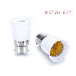 AKDSteel B22 to E27 Light La`Screw to Bayonet Cap Fireproof Holder Adapter Converter Socket