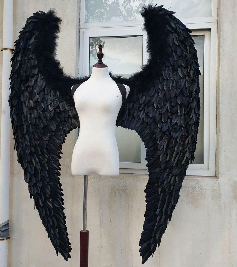 EMS Geben verschiffen Neue stil schwarz weiß angel wings laufsteg bühne zeigen requisiten festival fee flügel Fenster display requisiten