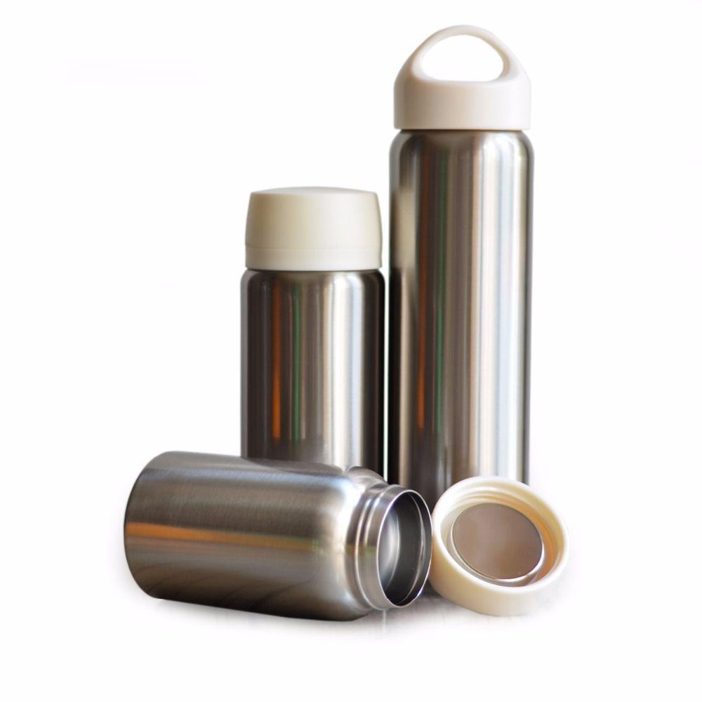 Bouteille d'eau isolée de qualité supérieure Double paroi en acier inoxydable flacon à vide large bouche bouilloire alimentaire Thermos hermétique