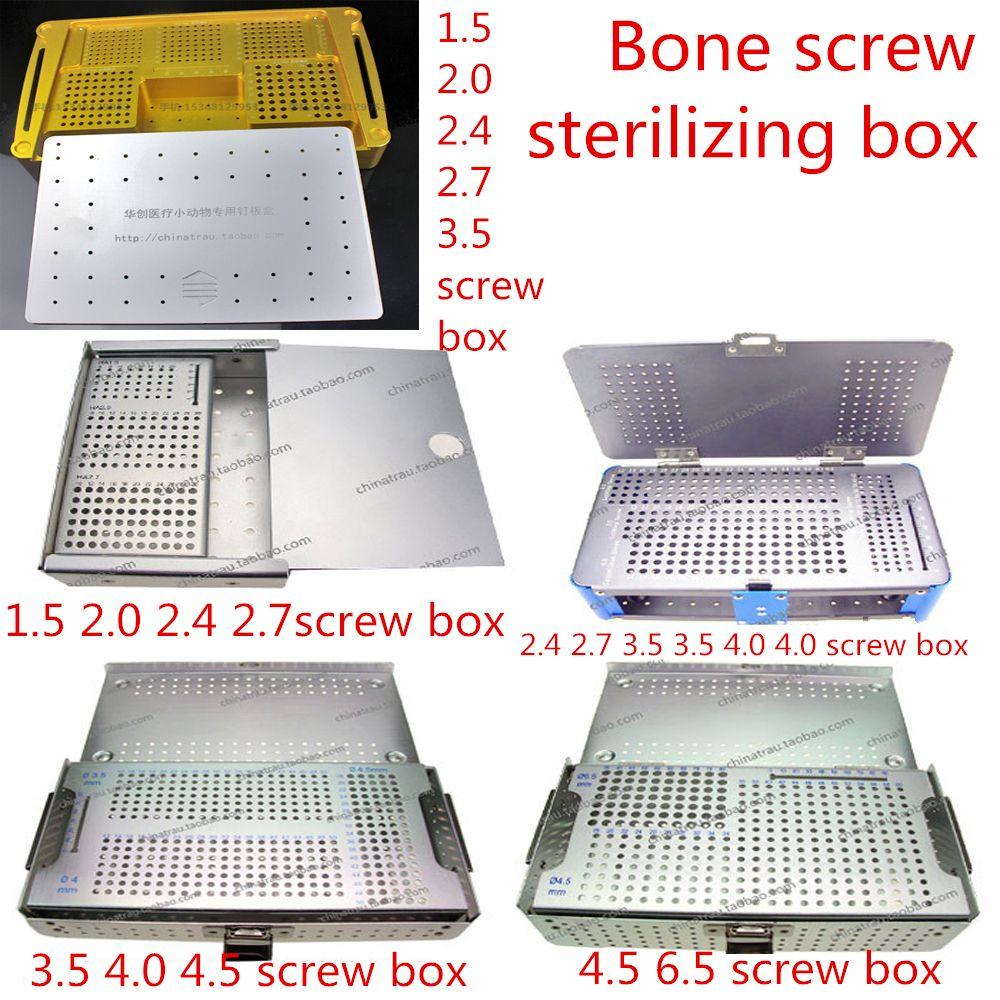 Instrument orthopédique médical verrouillage plaque à vis boîte de stérilisation corticale spongieuse vis stockage Place plateau boulon dépôt cas