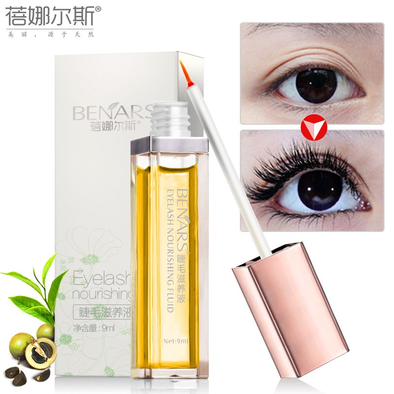 BENARS Eyelash Growth Liquid Treatment 9ml Face Care Eye Care Onger Slender Makeup Eyelash Growth Serum 7days Enhancer Mascara