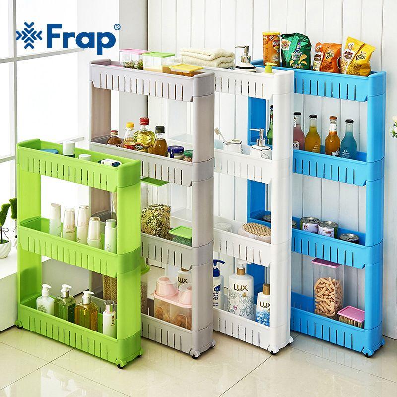 Frap étagère polyvalente avec roues amovibles fissure Rack salle de bain stockage Rack étagère de stockage réfrigérateur multicouche étagère latérale