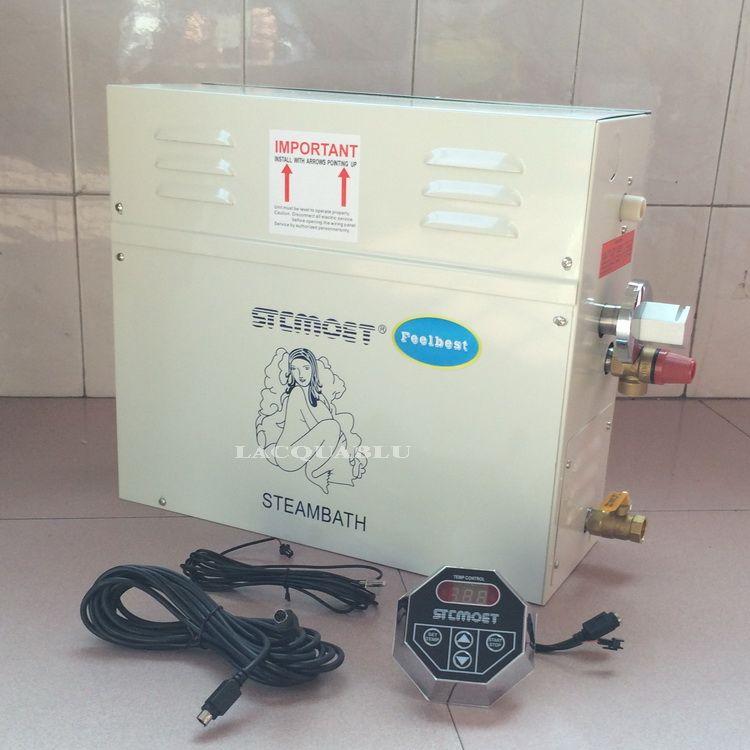 Nass Dampfer Mit Digital Controller 12KW 220 V Haushalts Dampf Maschine Dampf Generator Sauna Trockenen Stream Ofen