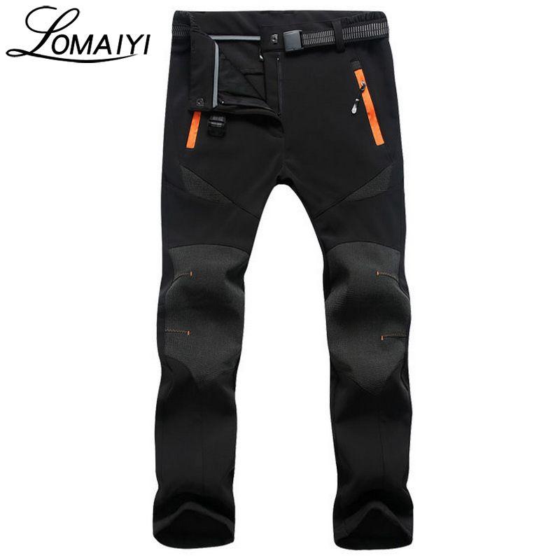 LOMAIYI Fleece Warm Female Casual Pants Women 2017 Winter Snow Waterproof Thick Trousers Ladies Stretch Bottom Sweatpants,AW077