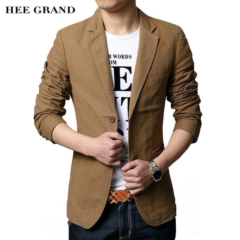 Hee Grand/Для Мужчин's Повседневное Пиджаки для женщин 2017 Лидер продаж костюм для досуга модные тонкие установлены мужской Пиджаки для женщин Од...