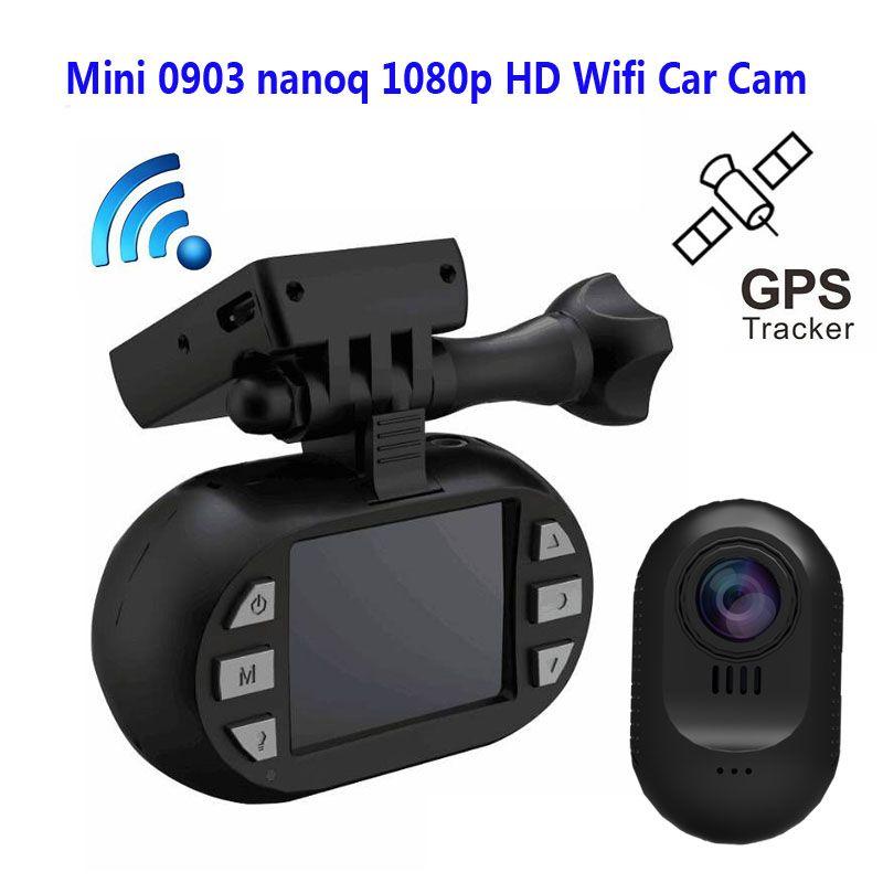 Freies Verschiffen!! Original Mini 0903 nanoq 1080 p HD Wifi Auto Dash Cam Kondensator 7G Nachtsicht NT96655 IMX322 GPS