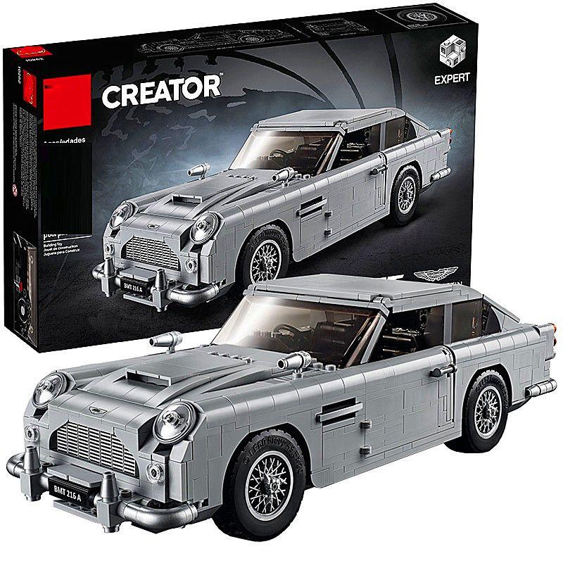 Technique Série 10262 Aston Martin DB5 Ensemble blocs de construction Briques voiture enfants Modèle Cadeaux Jouets compatible avec