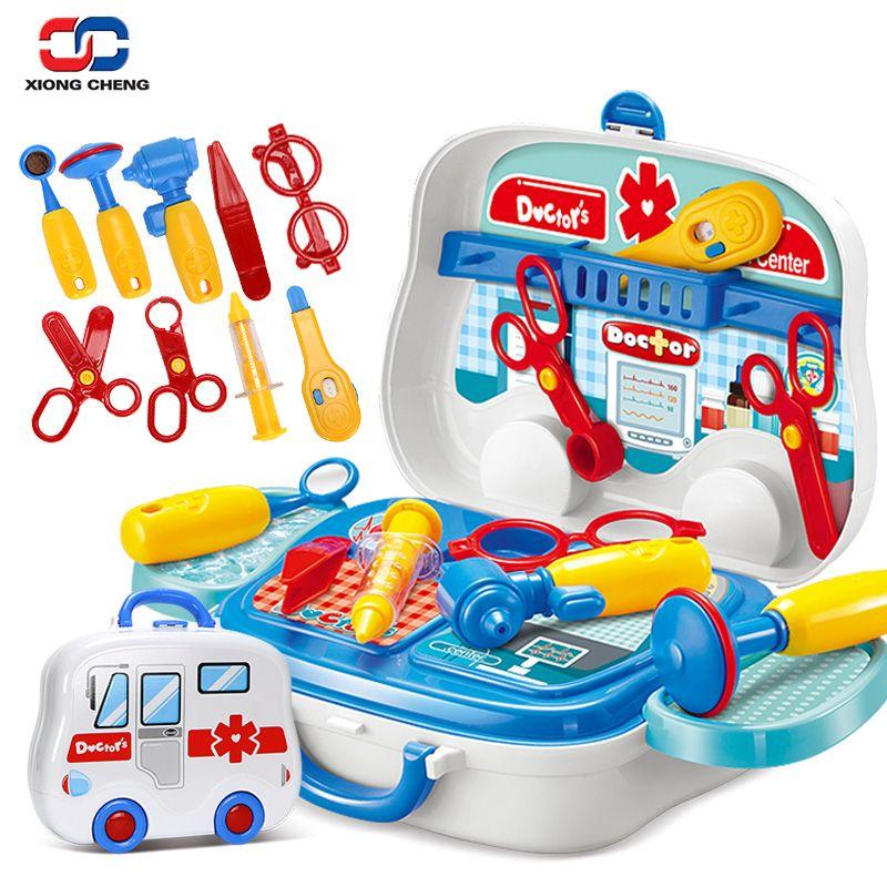 Niños Doctor Nurse Medical Equipo Juego de Imaginación Set de Juguetes Educativos Para Niños Juegos de Rol Herramientas Accesorios Maleta Portátil D51