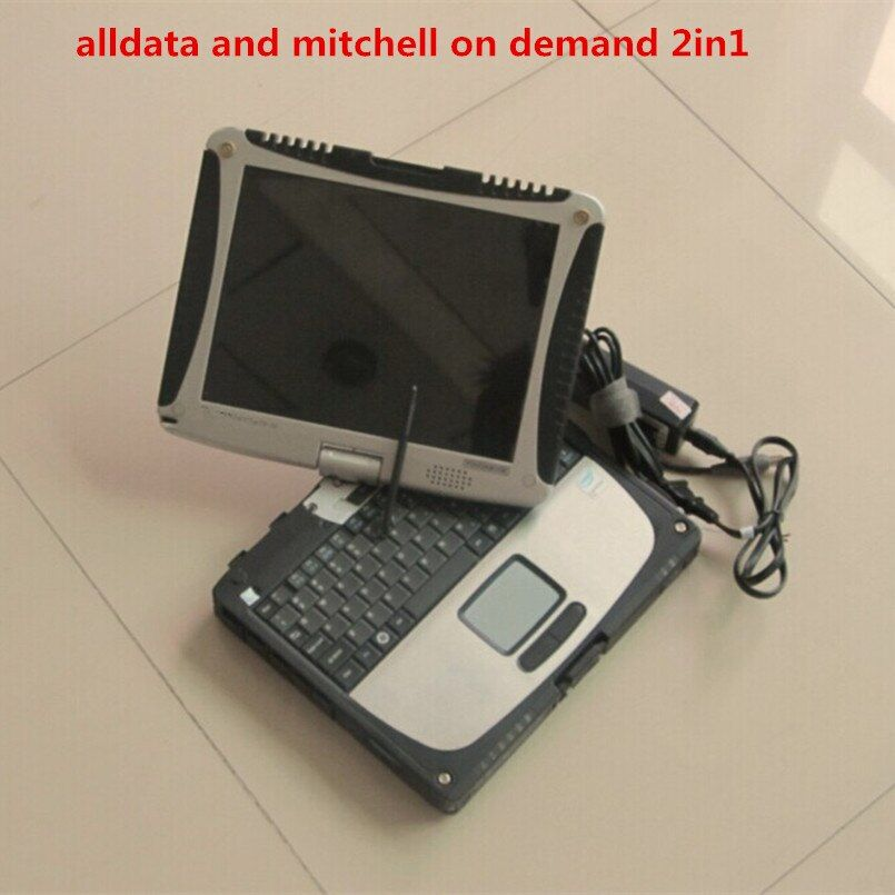 alldata mitchell on demand 2018 newest installed version laptop cf19 touch screen hdd 1tb all data 10.53 auto repair software
