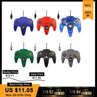 Cable USB/N64 controlador para Nintend N64 Joystick juegos Gamepad Joypad para Gamecube Controle para N64 PC para Mac negro Gamepad