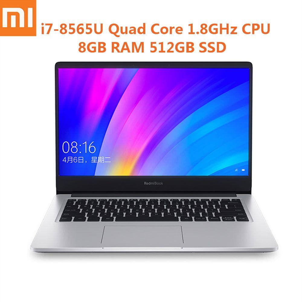 Xiaomi RedmiBook 14 zoll Laptop Win10 Intel Core i7-8565U Quad Core 1,8 GHz NVIDIA GeForce MX250 8 GB 512 GB ultra-Dünne Notebook