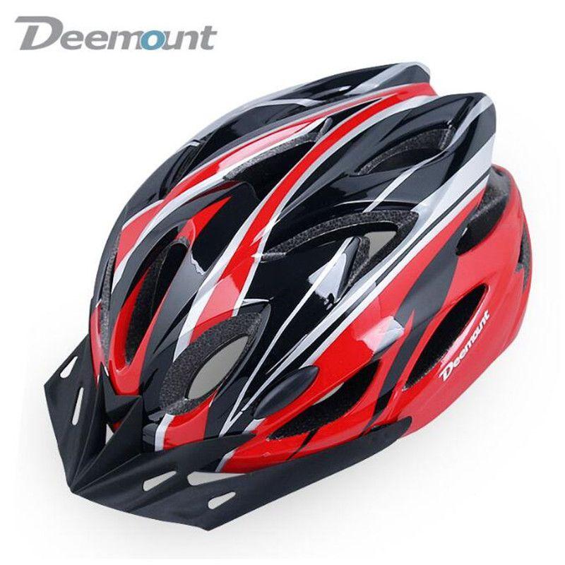 Deemount Велоспорт шлем Велосипедный Спорт езда на велосипеде Детская безопасность Кепки велосипед MTB интегрально in-mold 18 полостей вентиляции PC ...