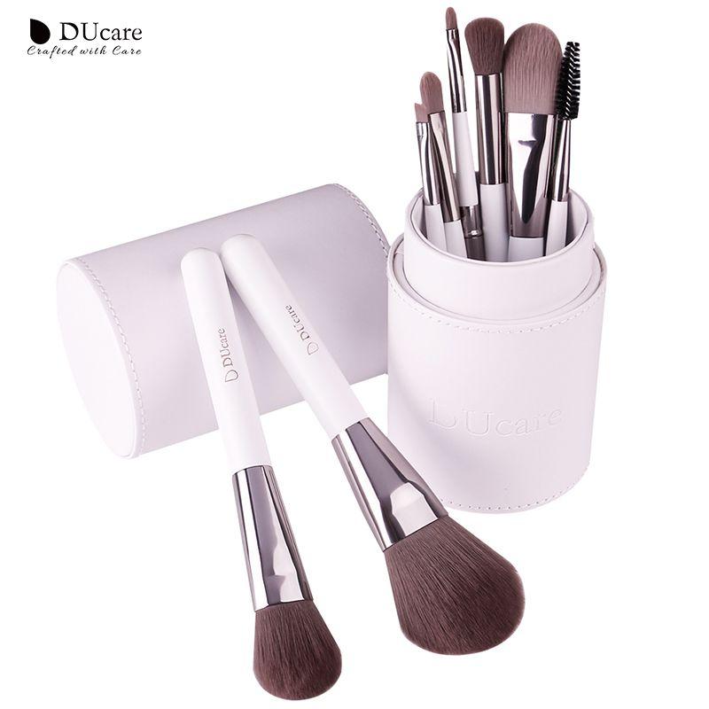 DUcare pinceaux de maquillage professionnel 8 pièces fond de teint fard à paupières pinceaux de maquillage maquillage kwasten