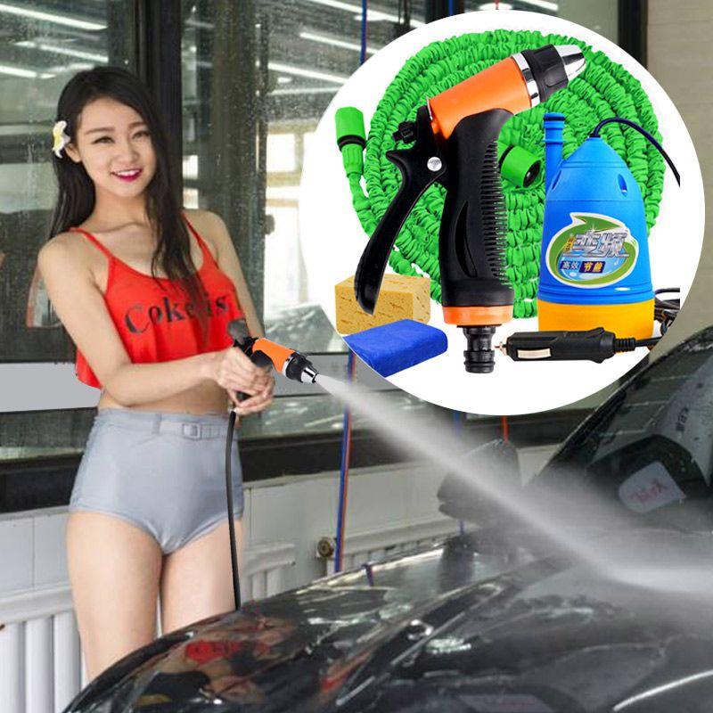 Lavage de voiture 12 v voiture rondelle Pistolet pompe haute pression machine à laver pression puissance auto lavage pompe à eau pression rondelle