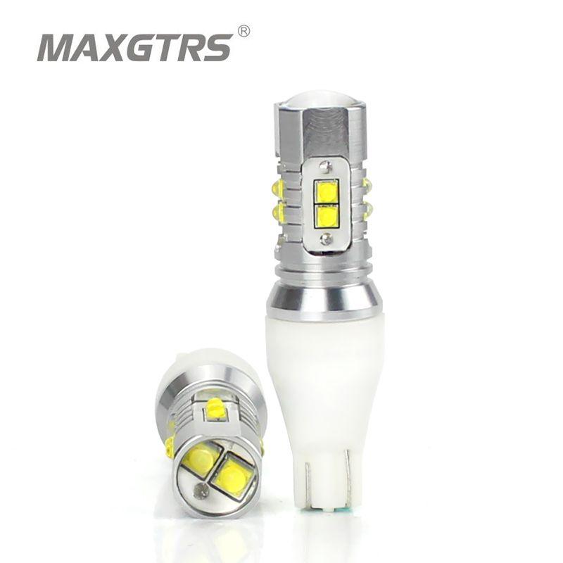 2x CREE Chip XBD 50 W T15 W16W 921 912 LED lumière de secours 12 V 24 V voiture inversion ampoule de secours lumière clignotant feu stop lampe