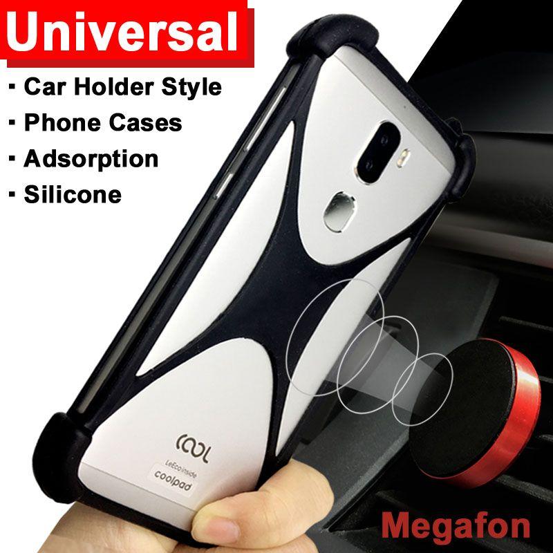 Megafon login case Adsorption Car Holder case for Megafon login plus cover Universal Soft TPU login plus Megafon case