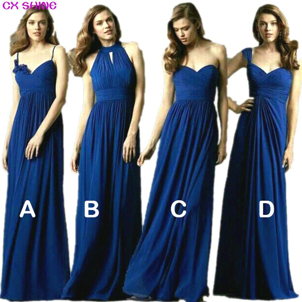 CX ÉCLAT New Custom couleur et La Taille! doux 4 style long de Demoiselle D'honneur Robes couleurs de mariage robe, Prom party robe femmes Plus La taille